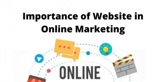 Importance of Website in Online Marketing